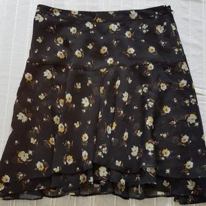 Floral Ruffle Skirt size 0